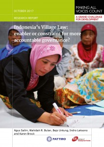 2017_11_01_MAVC_Indonesia's_Village_Law_Enabler_or_Constraint_for_MoreAccountableGovernance_Page_01