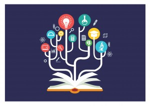 Flat concept of education processes based on book studying. With